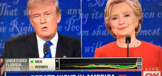 CNN First Presidential Debate dial testing results